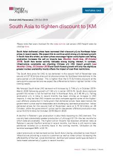 South Asia to tighten discount to JKM cover image