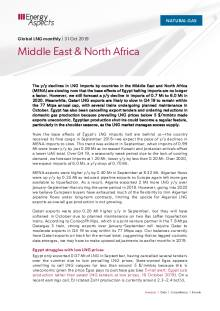 2019-10-31 Natural Gas - Global LNG - Middle East & North Africa cover