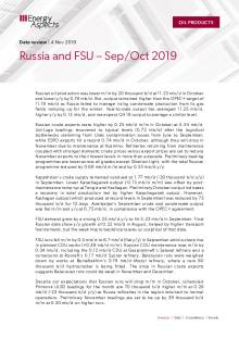 2019-11 Oil - Data review - Russia and FSU oil data – Sep/Oct 2019 cover