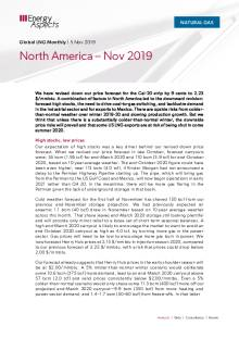 2019-11-05 Natural Gas - Global LNG - North America – Nov 2019 cover