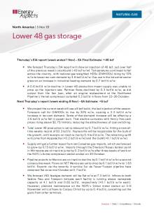 2019-11-05 Natural Gas - North America - Lower 48 gas storage cover