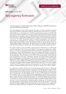 2019-11 Oil - Data review - Key agency forecasts cover