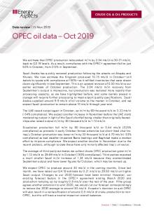 OPEC oil data – Oct 2019 cover image