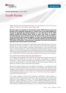 2019-11-15 Natural Gas - Global LNG - South Korea cover