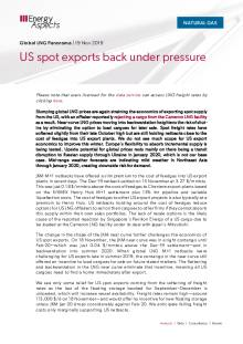 2019-11-19 Natural Gas - Global LNG - US spot exports back under pressure cover