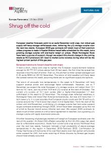 2019-11-25 Natural Gas - Europe - Shrug off the cold cover