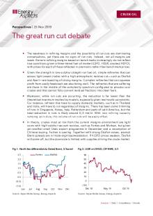 2019-11-25 Oil - Perspectives - The great run cut debate cover