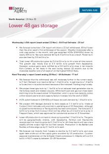 2019-11-26 Natural Gas - North America - Lower 48 gas storage cover