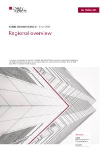 2019-11 Oil - Middle distillates Outlook - Regional overview cover