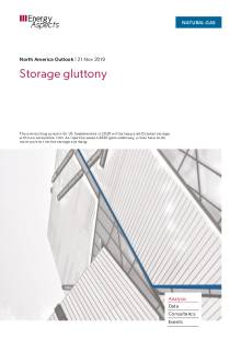 2019-11-21 Natural Gas - North America - Storage gluttony cover