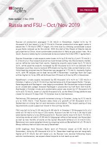 2019-12 Oil - Data review - Russia and FSU – Oct/Nov 2019 cover