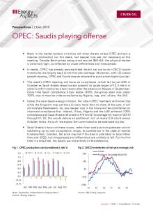 OPEC: Saudis playing offense cover image