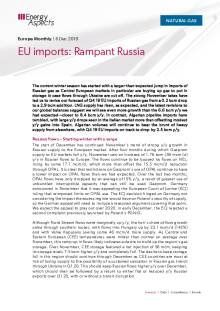 2019-12-06 Natural Gas - Europe - EU imports: Rampant Russia cover