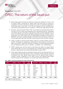 2019-12-09 Oil - Perspectives - OPEC: The return of the Saudi put cover