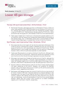 2019-12-10 Natural Gas - North America - Lower 48 gas storage cover