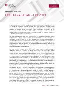 2019-12 Oil - Data review - OECD Asia oil data – Oct 2019 cover