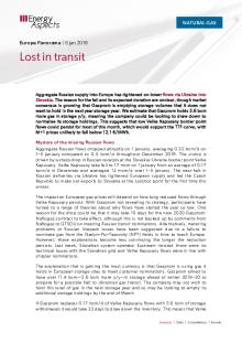 2020-01-06 Natural Gas - Europe - Lost in transit cover