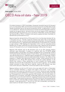 2020-01 Oil - Data review - OECD Asia oil data – Nov 2019 cover