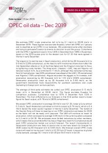 2020-01 Oil - Data review - OPEC oil data – Dec 2019 cover