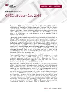 2020-01 Oil - Data review - OPEC oil data – Dec 2019 cover