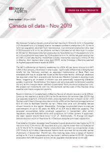 2020-01 Oil - Data review - Canada oil data – Nov 2019 cover