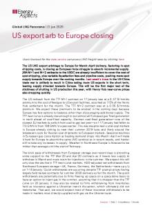 US export arb to Europe closing cover