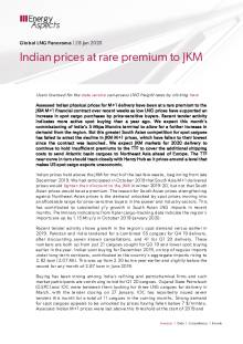 Indian prices at rare premium to JKM cover image