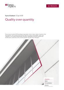 Quality over quantity cover