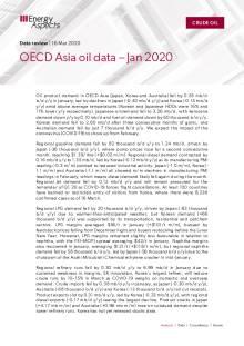 OECD Asia oil data – Jan 2020 cover image
