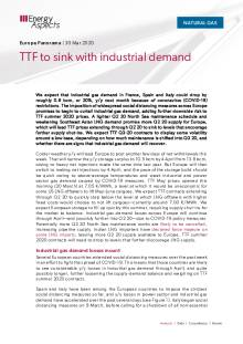 TTF to sink with industrial demand cover image