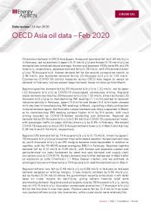 OECD Asia oil data – Feb 2020 cover image