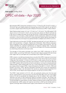 OPEC oil data – Apr 2020 cover image