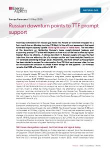 Russian downturn points to TTF prompt support cover image