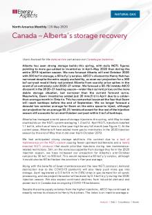 Canada - Alberta's storage recovery cover image