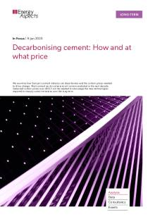 Decarbonising cement: How and at what price cover image