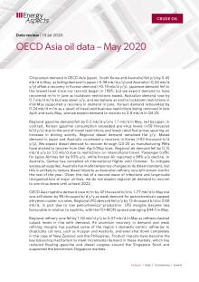 OECD Asia oil data – May 2020 cover image