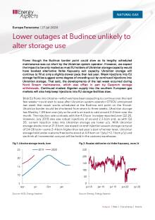 Lower outages at Budince unlikely to alter storage use cover image